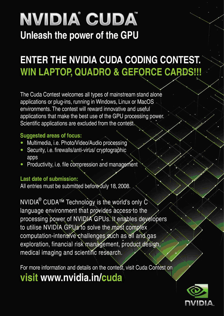 NVIDIA CUDA Competition Flyer